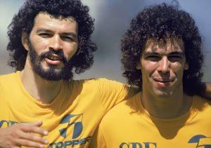 Sócrates e Casagrande na década de 80