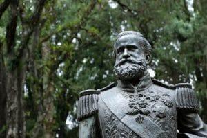 Busto de Dom Pedro II atualmente